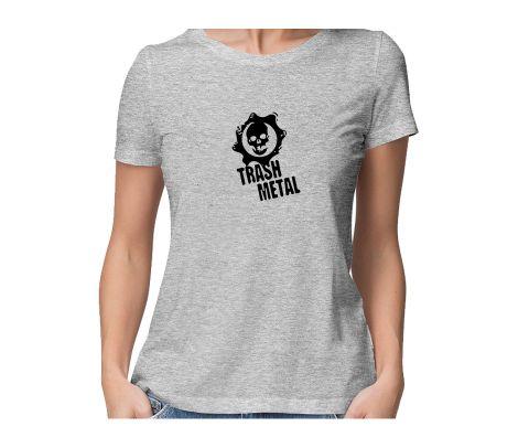 Thrash Metal Fan  round neck half sleeve tshirt for women