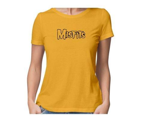 Misfits  round neck half sleeve tshirt for women