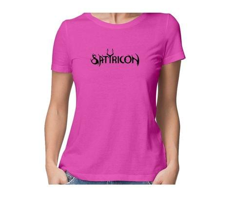 Satyricon  round neck half sleeve tshirt for women