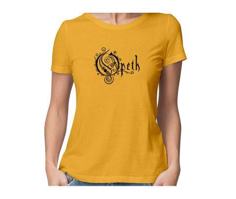Opeth  round neck half sleeve tshirt for women