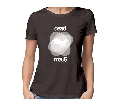 Deadmau5   Shit Happens round neck half sleeve tshirt for women
