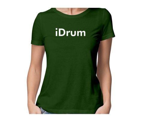 iDrum  round neck half sleeve tshirt for women