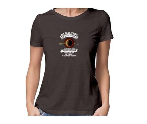Pink Floyd   Eclipse New Design round neck half sleeve tshirt for women