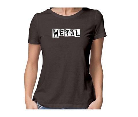 Metalhead  round neck half sleeve tshirt for women