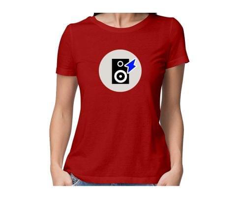 Feel the Music  round neck half sleeve tshirt for women