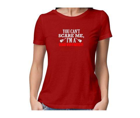 Fearless Lead Guitarist  round neck half sleeve tshirt for women