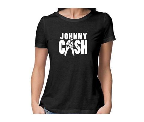 Johhny Cash  round neck half sleeve tshirt for women