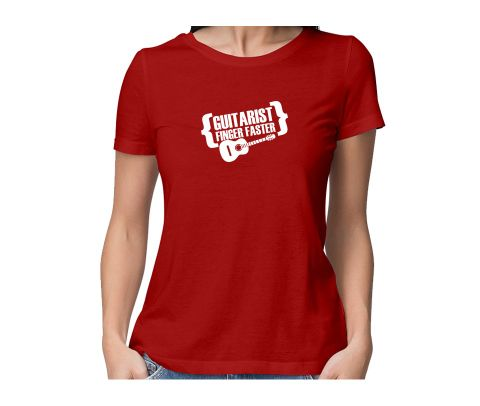 Guitarist Finger Faster  round neck half sleeve tshirt for women