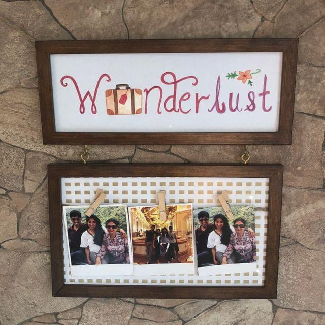 Wanderlust Hanging Photo Frame