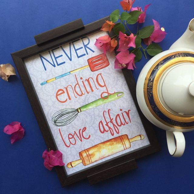 Never ending love affair' tray