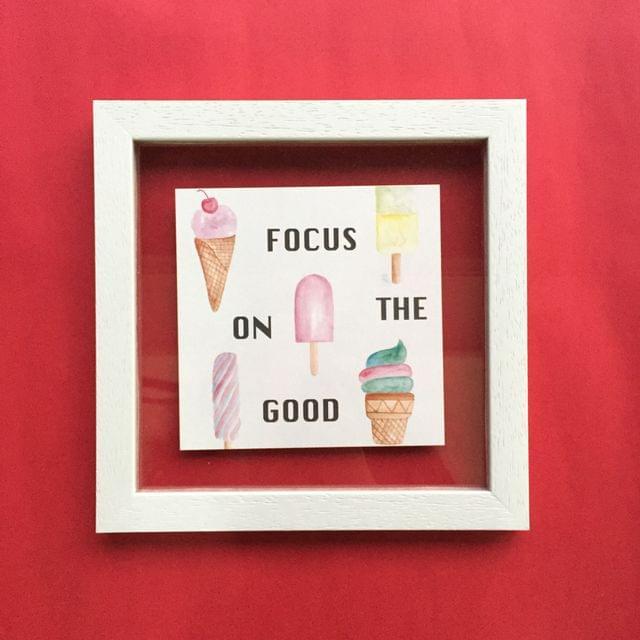 Focus on the Good' Wall Frame