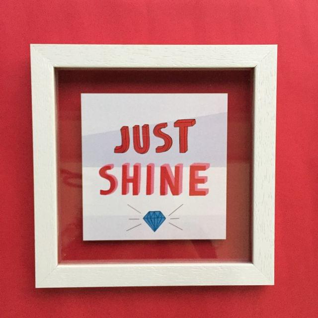 Just Shine' Wall Frame