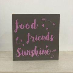 Food Friends Sunshine Wooden Block
