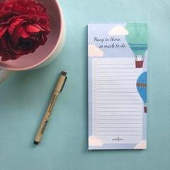 Notepad-Hot Air Balloon To Do List