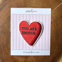 'You are Enough' Heart Patch