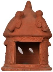 Hanging Lamp Hut- Molela Terracotta
