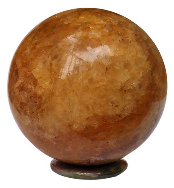 Agates (Akik) of Cambay-Yellow Golden Ball-Dark