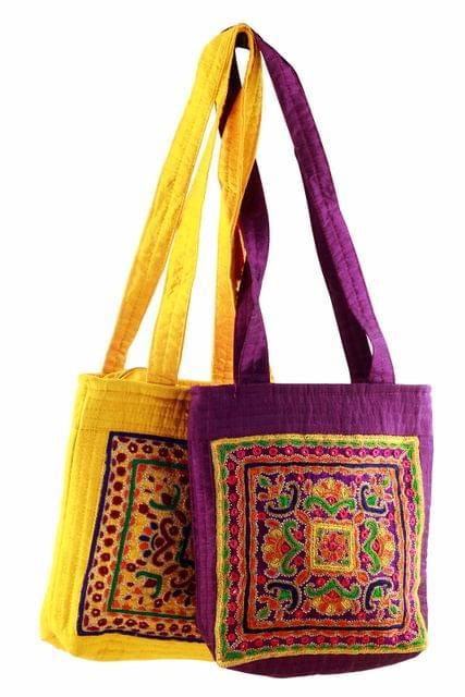 Embroidered Handcrafted Handbag-VIVEKA