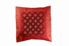 Embroidered Handcrafted Cushion Cover-Small-VIVEKA