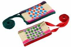 Embroidered Handcrafted Silk Mobile Case (Dotty)-VIVEKA