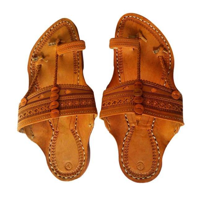 Men Kolhapuri Kapshi Brown Sandal
