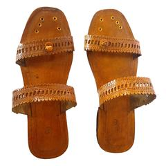 Women Brown Kolhapuri Sandal-Double Patti