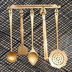 Hand Crafted Brass Kitchen Set- 5 Pieces