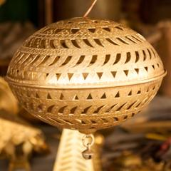 Hand Crafted Brass Chandelier with Ghungroo