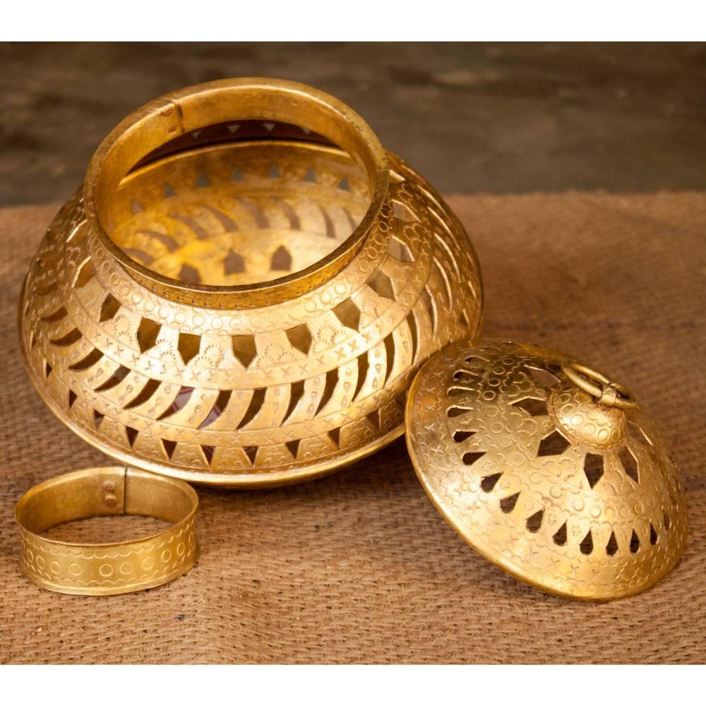 Hand Crafted Brass Garbo Medium