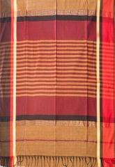 Maheshwari Handwoven Cotton-Silk Saree-Brown