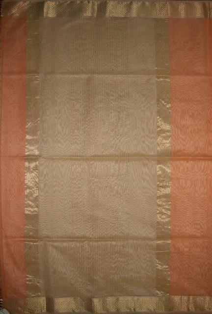 Maheshwari Handwoven Cotton-Silk Saree- Karwat Border Kosa Piece