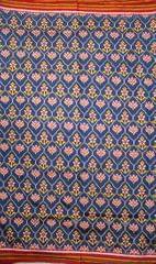 Authentic Double Ikat Patan Patola Saree Handwoven-Pure Silk-Silk Mark Certified