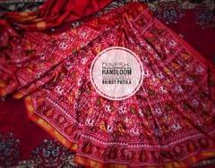 Single Ikat Patola Saree Handwoven-Pure Silk- Pink