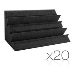 Set of 20 Studio Corner Bass Trap Acoustic Foam Black