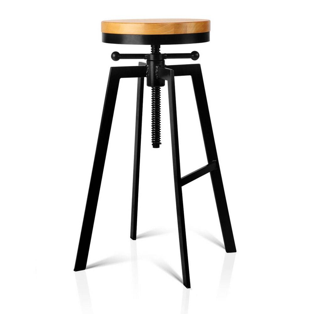 Adjustable Height Industrial Stool