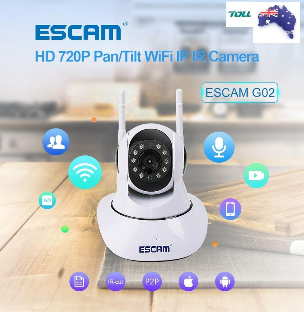 Security Camera Wifi with App for iOS and Android - HD 720p Tilt & Pan. Micro SD. 2 way speaker. OZ Stock!