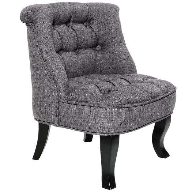 Lorraine Chair French Provincial Kid Fabric Sofa Misty Grey