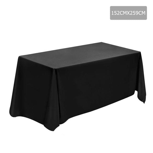 Set of 6 Table Cloths - Black 152 x 259