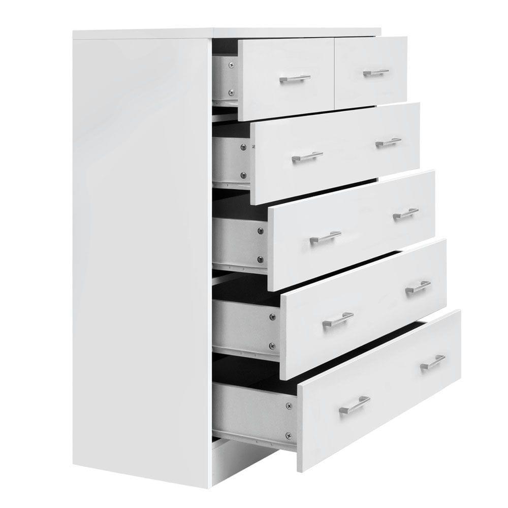 Tallboy 6 Drawers Storage Cabinet White