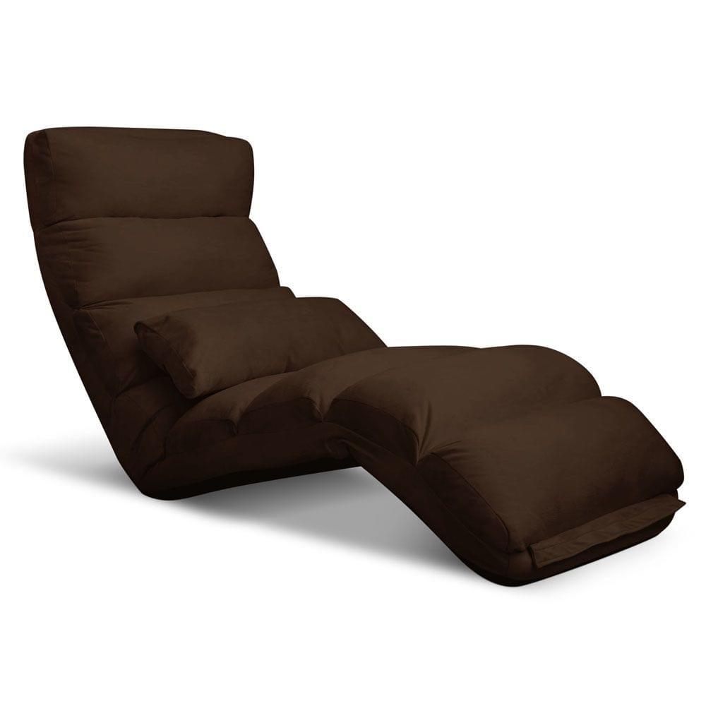 Lounge Sofa Chair - 75 Adjustable Angles-Brown