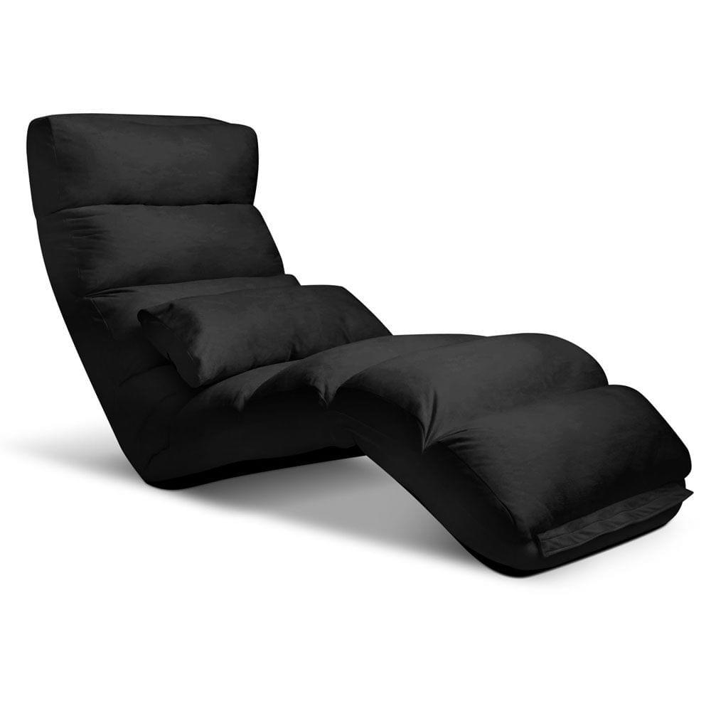 Lounge Sofa Chair - 75 Adjustable Angles-Black