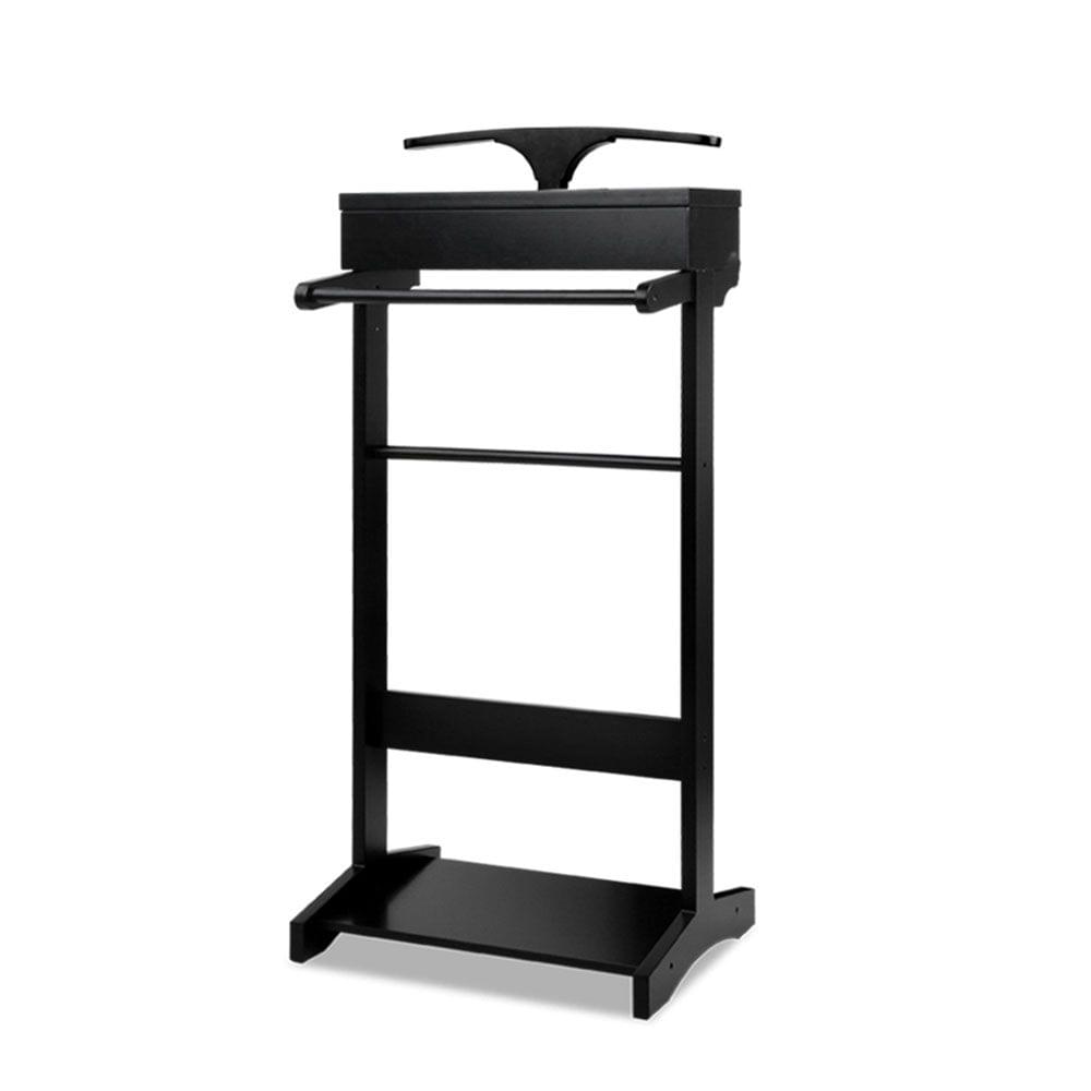 Valet Stand with Storage Black