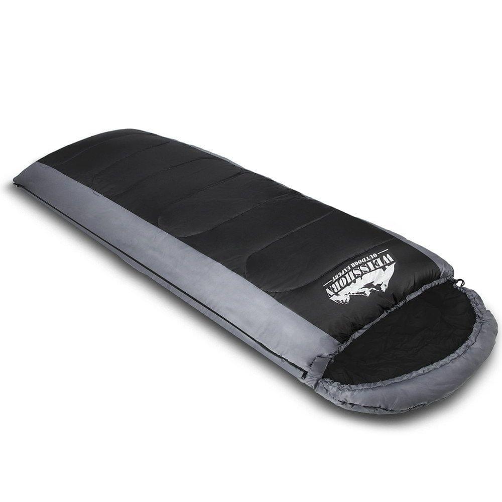 Camping Envelope Sleeping Bag Single Grey