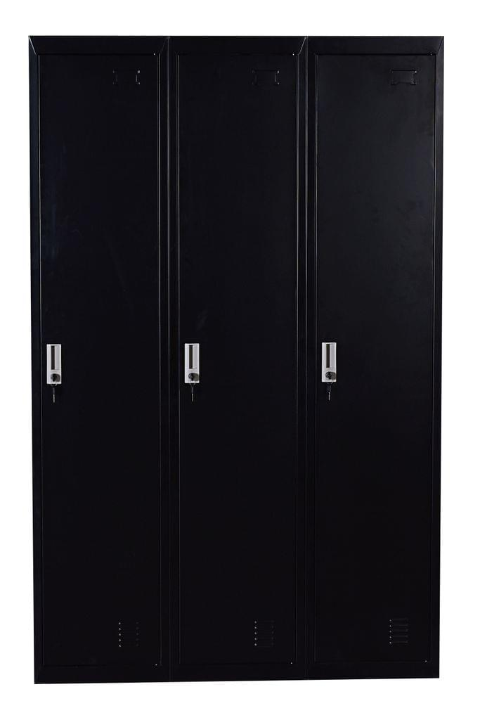 Three-Door Side by Side Office Gym Shed Storage Locker