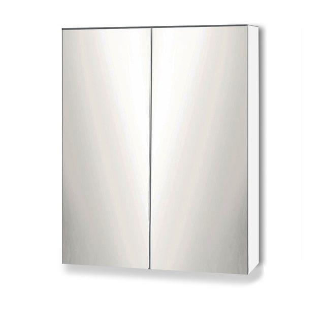 Storage Mirror Cabinet White