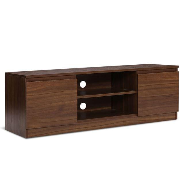 TV Stand Entertainment Unit with Storage Walnut