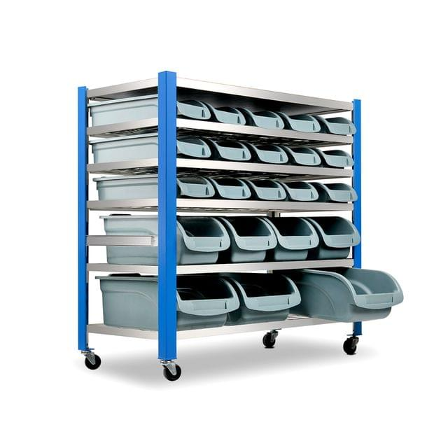 22 Storage Bin Rack Stand