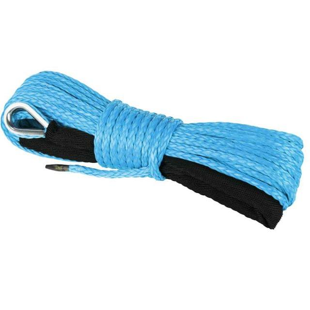 6mm x 15M Dyneema SK75 Winch Rope Blue Synthetic Strap Boat ATV 4WD Recovery