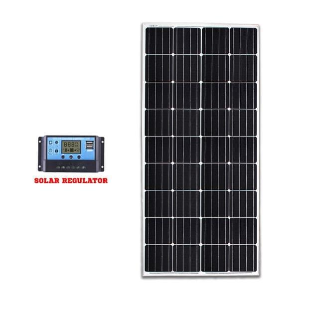 12V 200W Mono Solar Panel Kit Caravan Camping Power Battery Home Charging