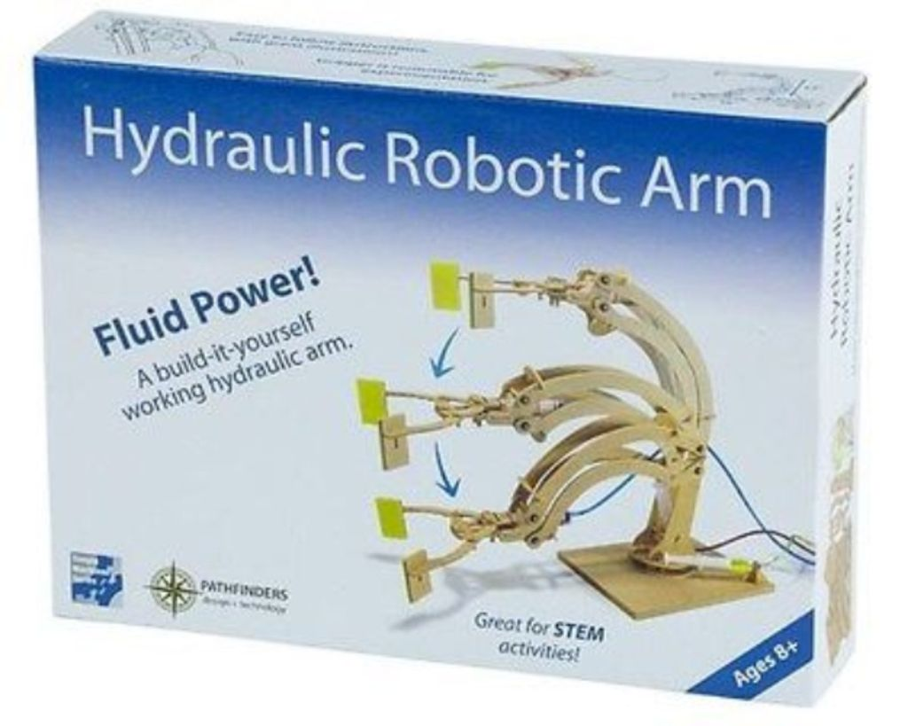 Hydraulic Robotic Arm - DIY wooden kit